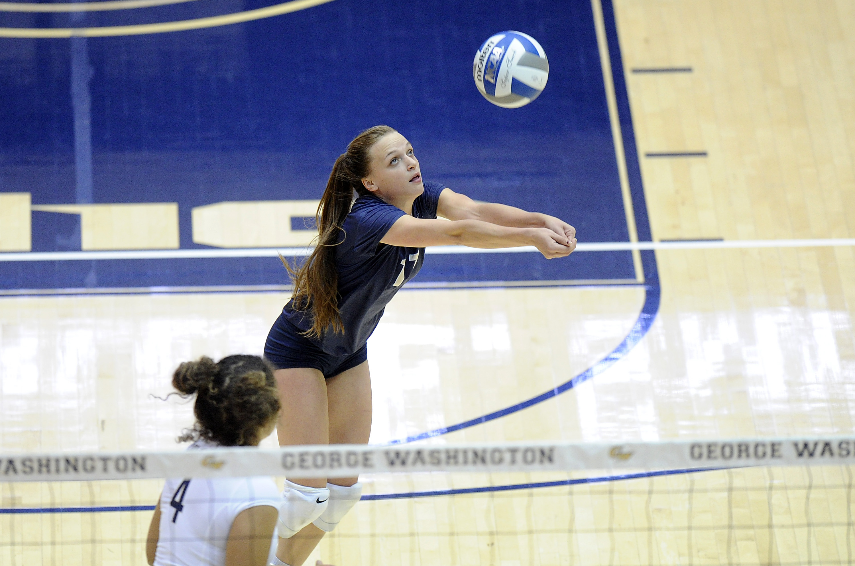 GW Volleyball to Host Pair of A-10 Matches this Weekend - George